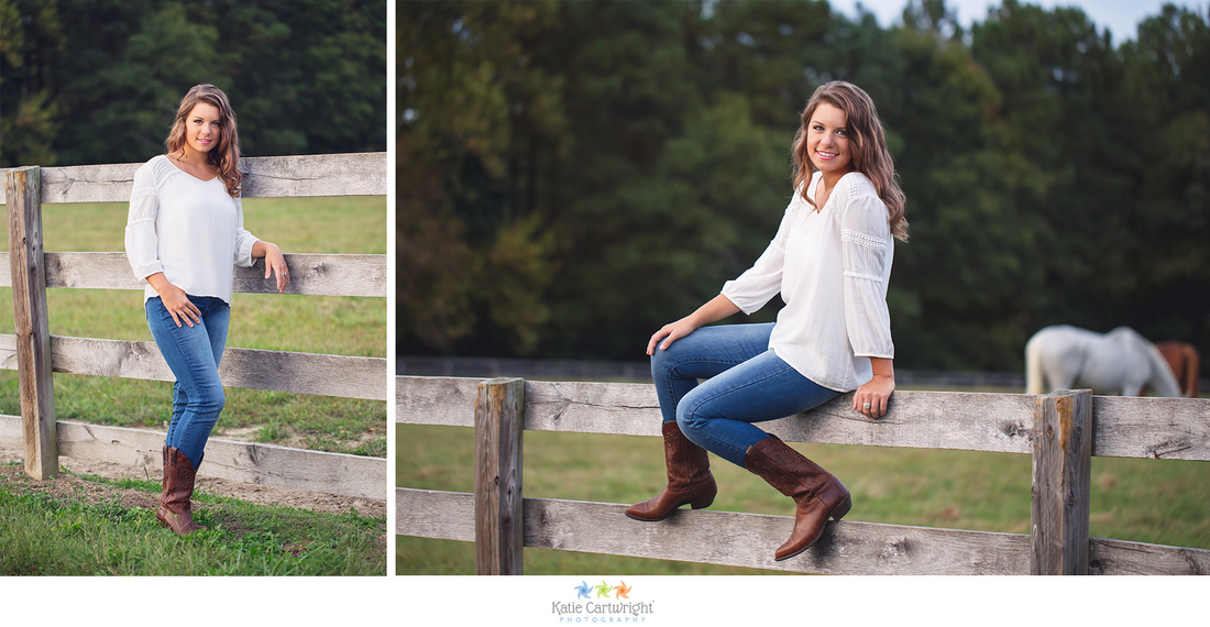 Ashland VA Senior Portraits, Coventry Horse Farm, Patrick Henry High School